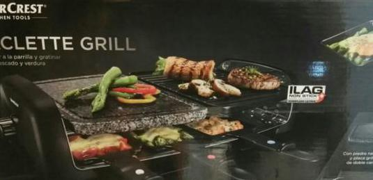 Parrilla raclette grill 1400w Silvercrest