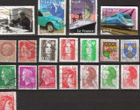 Francia - 19 sellos