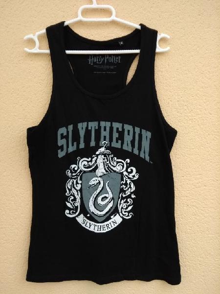 Camiseta slytherin, negra, nueva a estrenar, hp