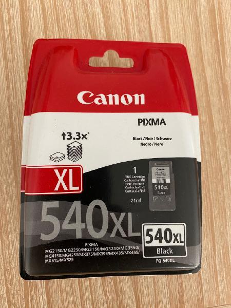 Cartucho tinta negra canon 540 xl