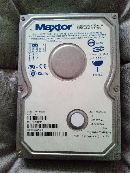 Disco duro maxtor 3'5 conexion ide 80gb