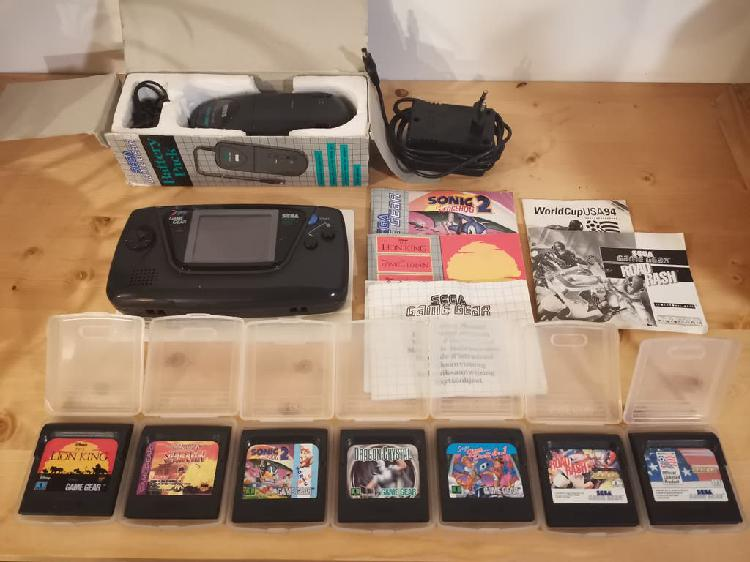 Game gear + battery pack + juegos
