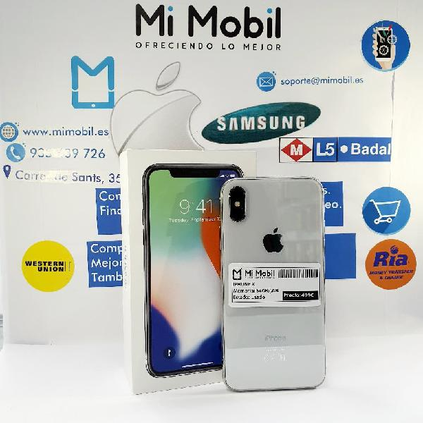 Iphone x 64gb silver usado impecable