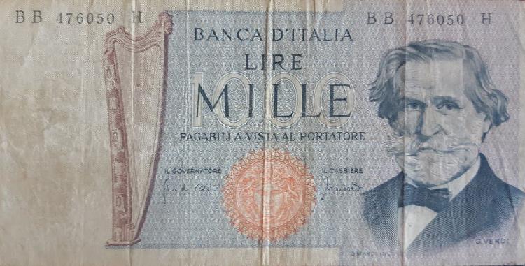 Italia 1000 lire liras p101b 1971 usado vg
