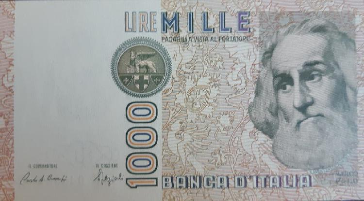 Italia 1000 lire liras p109b 1988 nuevo unc sc