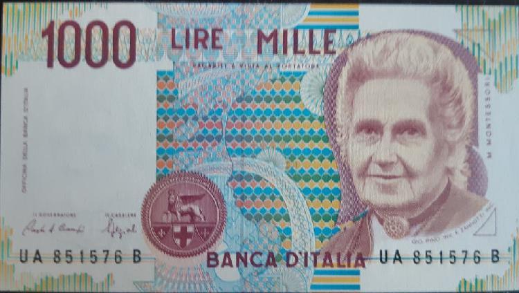Italia 1000 lire liras p114a 1991 nuevo unc sc