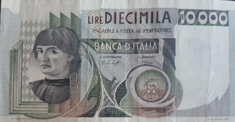 Italia 10000 lire liras p106a 1976 usado xf