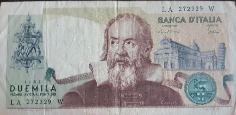 Italia 2000 lire liras p103c 1983 usado vf