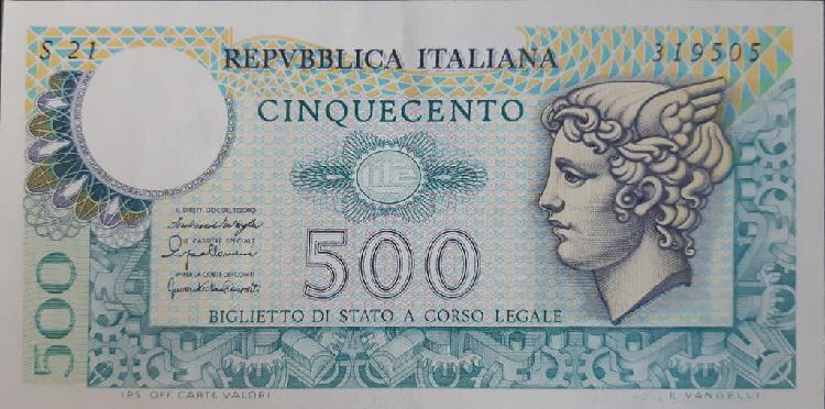Italia 500 lire liras p95 1976 nuevo unc sc