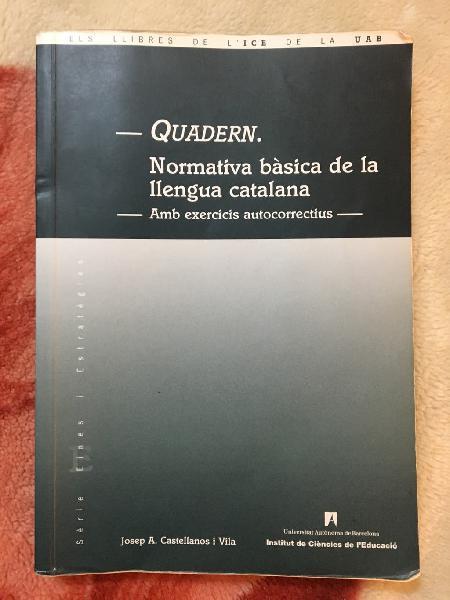 Llibre: normativa bàsica de la llengua catalana
