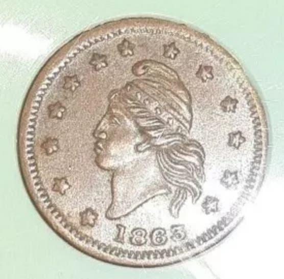 Moneda/token.estados unidos 1862.guerra civil.s/c.