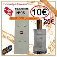 Perfume mujer equivalente n05 armari codi giorji armar