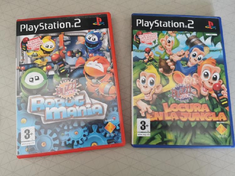 Pack de juegos buzz ps2.