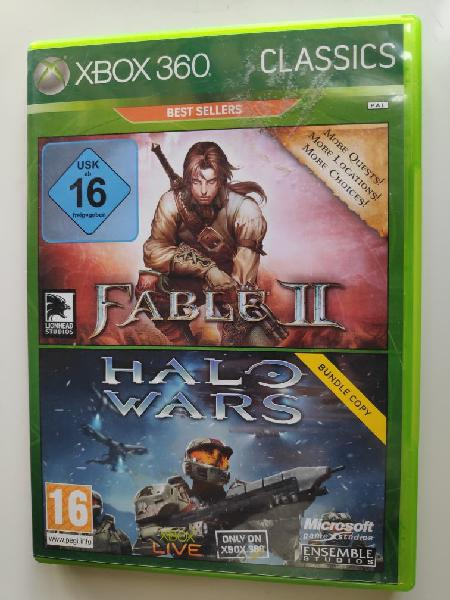 Pack doble juego fable ii + halo wars xbox 360