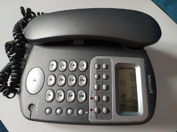 Telefono fijo con identificador de llamadas, en pe
