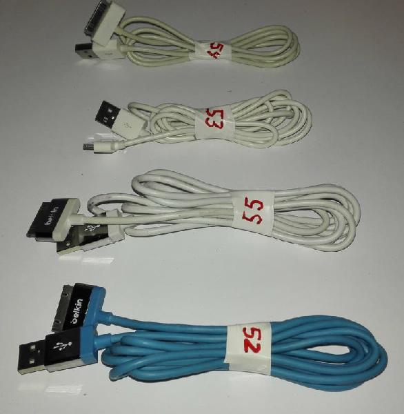 Cables de carga iphone 4 y 4s