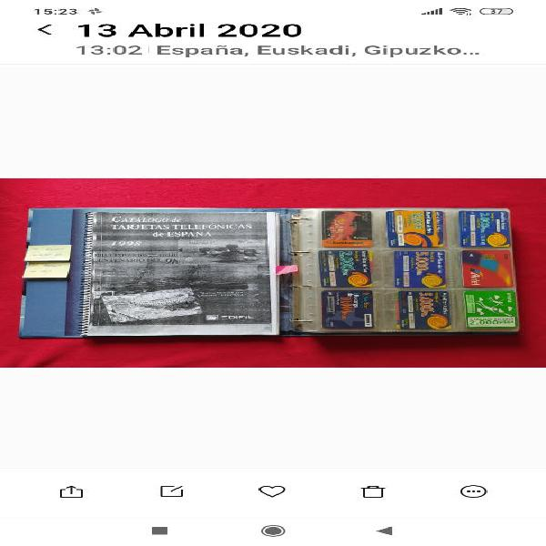 Colección tarjetas telefonicas (usadas)