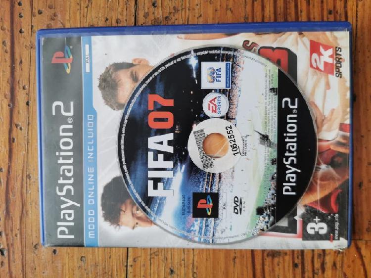 Fifa 07 y pes6 juego ps2