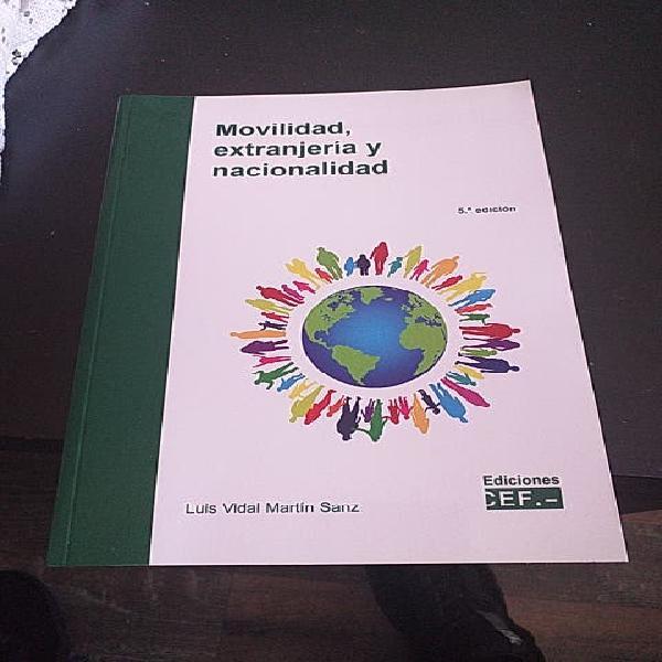 Libro movilidad, extranjería y nacionalidad