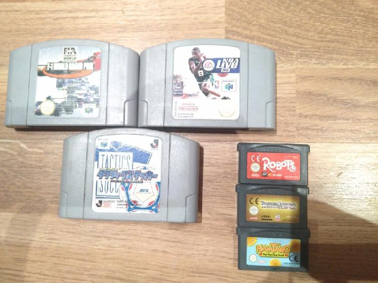 Lote juegos nintendo 64 gba game boy advance sp