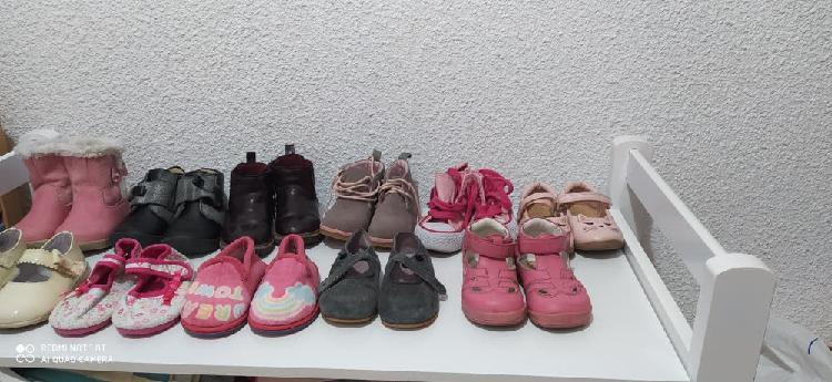 Lote zapatos niña talla 21 -22