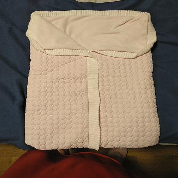 Saco de invierno de bebe niña en rosa palo