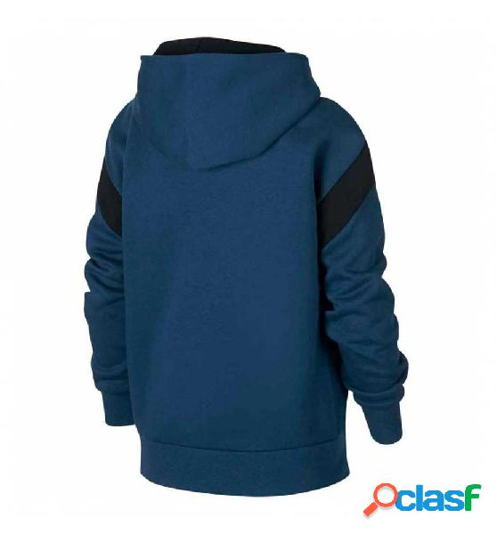 Sudadera capucha casual nike b nk air hz po azul m
