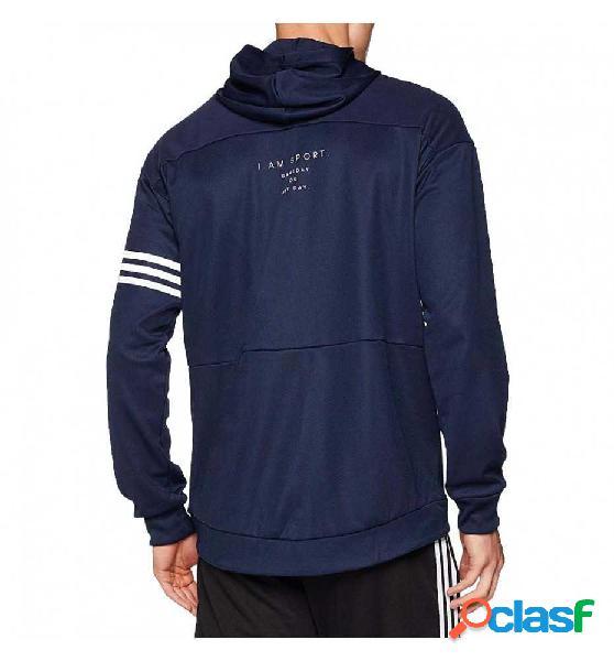Sudadera capucha casual adidas azul marino m