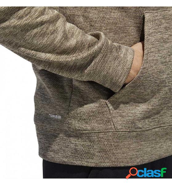 Sudadera Con Capucha Casual Adidas Ti Flc Poh Logo L Marrón 1