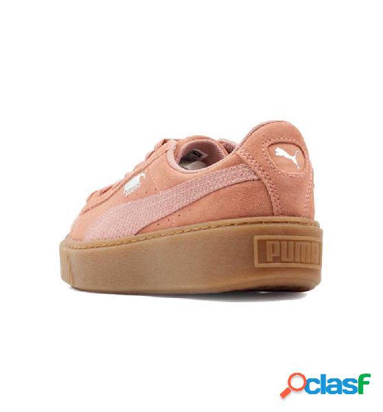 Zapatillas casual puma suede platform animal 38 rosa