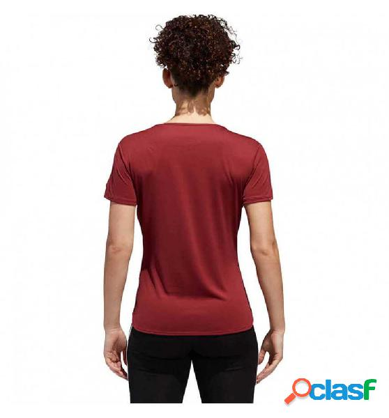 Camiseta m/c running adidas rs ss t ee w l rojo