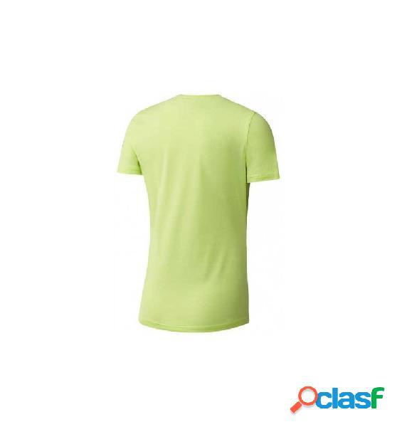 Camiseta running reebok ac tee l verde claro