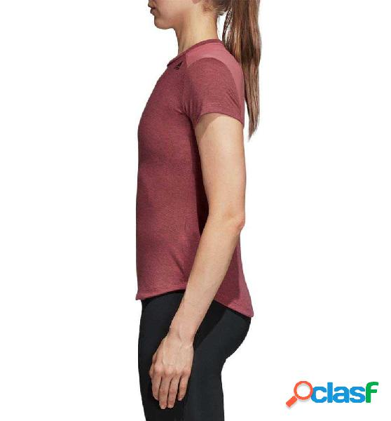Camiseta M/c Fitness Adidas Prime Tee Mix M Rojo 1