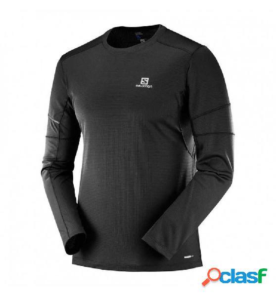 Camiseta M/l Trail Salomon Ml Agile Ls Tee M Negro Xl 1