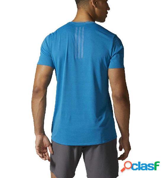 Camiseta running adidas sn ss tee azul l