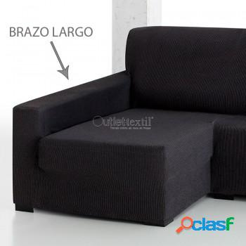Funda de sofá chaise longue elástica rustica 1