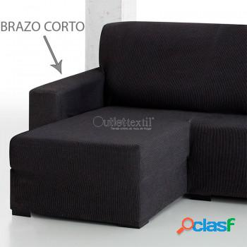 Funda de sofá chaise longue elástica rustica 3