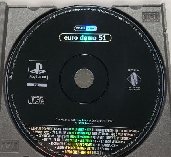 Euro demo 51 playstation psx ps1 psone