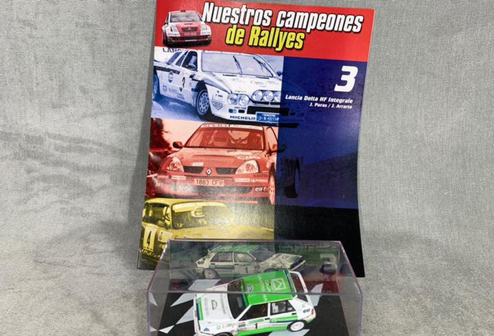 Lancia delta hf - nuestros campeones de rallyes + fascículo