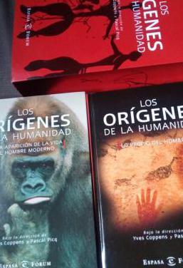 Libro los orígenes de la humanidad 2 tomos.