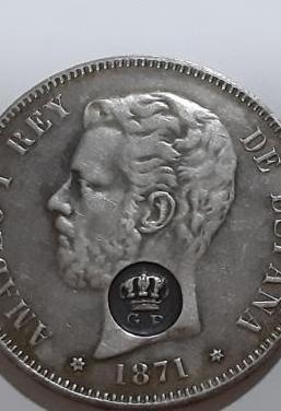 Moneda plata amadeo i 1871