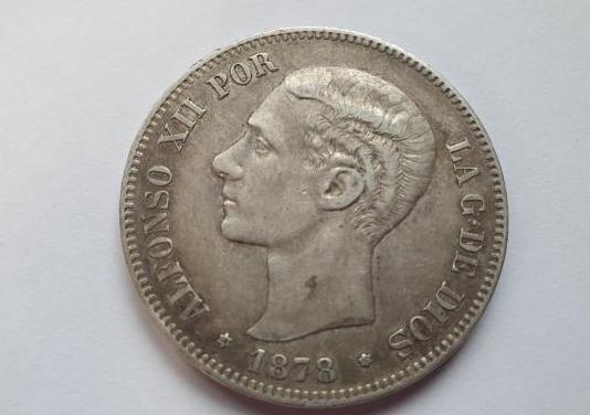 Moneda 5pts 1878