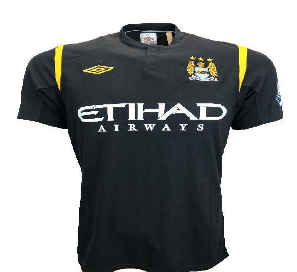 Camiseta teves match worn shirt manchester city england