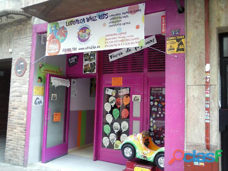 Se traspasa Ludoteca  parque de bolas totalmente equipado. dispone licencias de parque infantil y de 5