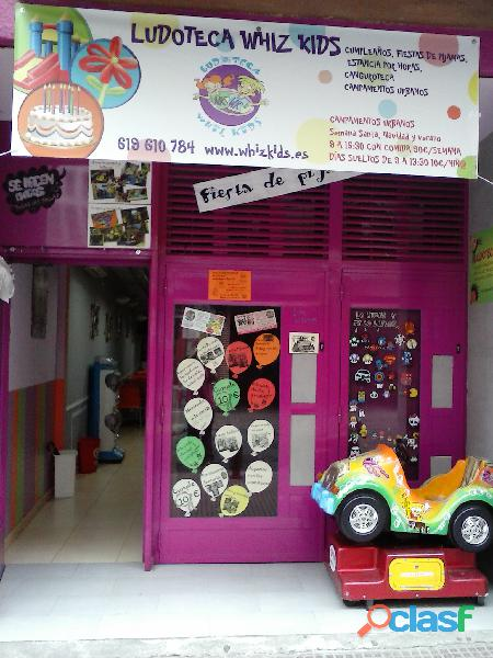 Se traspasa Ludoteca  parque de bolas totalmente equipado. dispone licencias de parque infantil y de 6