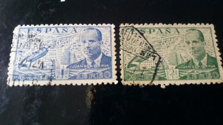 2 sellos juan de la cierva