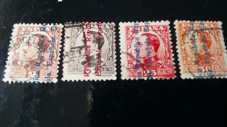 4 sellos ii republica española 1931