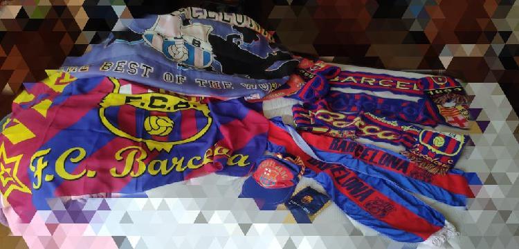 Banderas, bufandas, visera, banderin barça