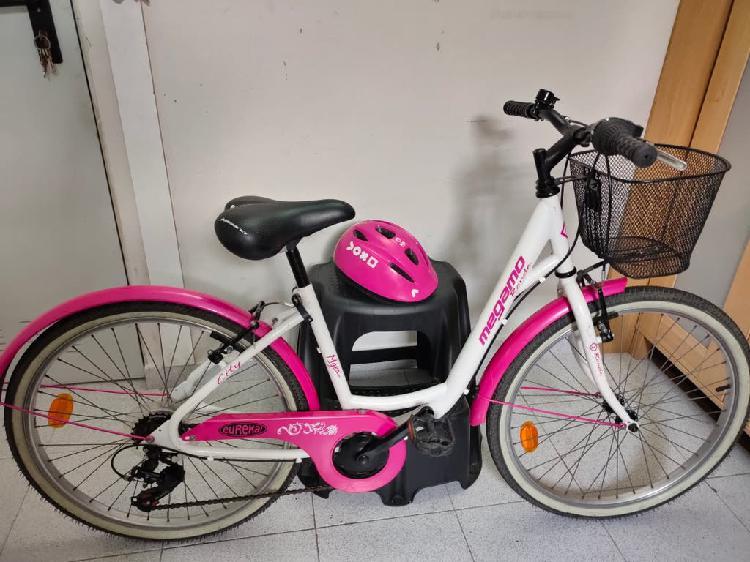 Bicicleta niña (9-12 años). + casco