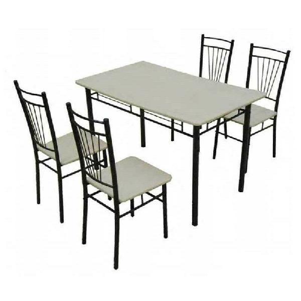 Conjunto cocina mesa y 4 sillas negro
